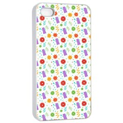 Decorative Spring Flower Pattern Apple Iphone 4/4s Seamless Case (white) by TastefulDesigns