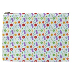 Decorative Spring Flower Pattern Cosmetic Bag (xxl)  by TastefulDesigns