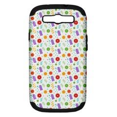 Decorative Spring Flower Pattern Samsung Galaxy S Iii Hardshell Case (pc+silicone) by TastefulDesigns