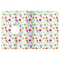 Decorative Spring Flower Pattern Kindle Fire Hdx Flip 360 Case by TastefulDesigns