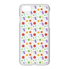 Decorative Spring Flower Pattern Apple Iphone 7 Seamless Case (white) by TastefulDesigns