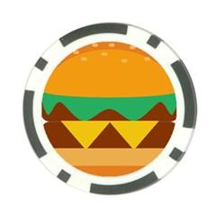 Hamburger Bread Food Cheese Poker Chip Card Guard by Simbadda