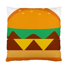 Hamburger Bread Food Cheese Standard Cushion Case (one Side) by Simbadda