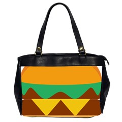 Hamburger Bread Food Cheese Office Handbags (2 Sides)  by Simbadda