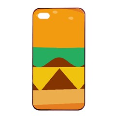 Hamburger Bread Food Cheese Apple Iphone 4/4s Seamless Case (black) by Simbadda