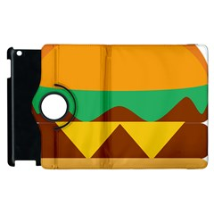 Hamburger Bread Food Cheese Apple Ipad 3/4 Flip 360 Case by Simbadda