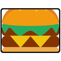 Hamburger Bread Food Cheese Double Sided Fleece Blanket (large)  by Simbadda