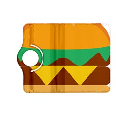 Hamburger Bread Food Cheese Kindle Fire Hd (2013) Flip 360 Case by Simbadda