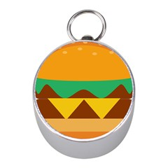 Hamburger Bread Food Cheese Mini Silver Compasses