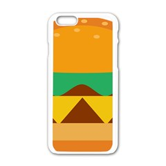 Hamburger Bread Food Cheese Apple Iphone 6/6s White Enamel Case by Simbadda