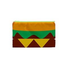 Hamburger Bread Food Cheese Cosmetic Bag (xs) by Simbadda