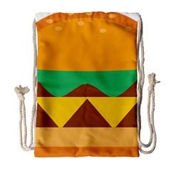 Hamburger Bread Food Cheese Drawstring Bag (large) by Simbadda