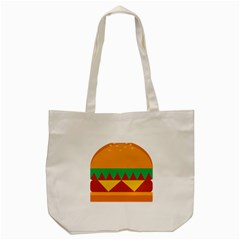 Burger Bread Food Cheese Vegetable Tote Bag (cream) by Simbadda