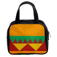 Burger Bread Food Cheese Vegetable Classic Handbags (2 Sides)