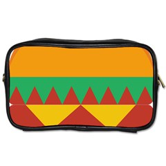 Burger Bread Food Cheese Vegetable Toiletries Bags 2 Side by Simbadda