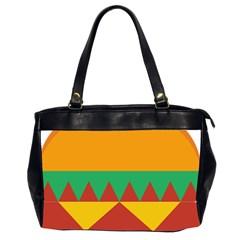 Burger Bread Food Cheese Vegetable Office Handbags (2 Sides)  by Simbadda