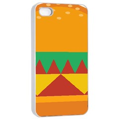 Burger Bread Food Cheese Vegetable Apple Iphone 4/4s Seamless Case (white) by Simbadda