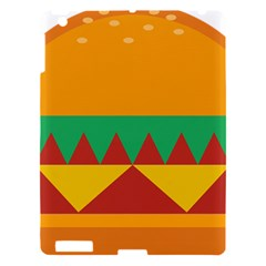 Burger Bread Food Cheese Vegetable Apple Ipad 3/4 Hardshell Case by Simbadda