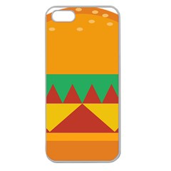 Burger Bread Food Cheese Vegetable Apple Seamless Iphone 5 Case (clear) by Simbadda