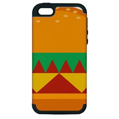 Burger Bread Food Cheese Vegetable Apple Iphone 5 Hardshell Case (pc+silicone) by Simbadda