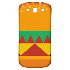 Burger Bread Food Cheese Vegetable Samsung Galaxy S3 S Iii Classic Hardshell Back Case by Simbadda