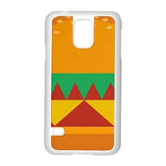 Burger Bread Food Cheese Vegetable Samsung Galaxy S5 Case (white) by Simbadda
