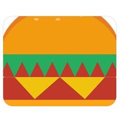 Burger Bread Food Cheese Vegetable Double Sided Flano Blanket (medium)  by Simbadda