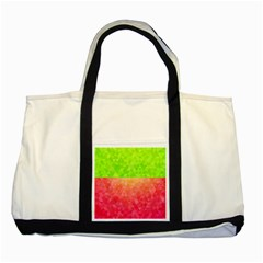 Colorful Abstract Triangles Pattern  Two Tone Tote Bag by TastefulDesigns
