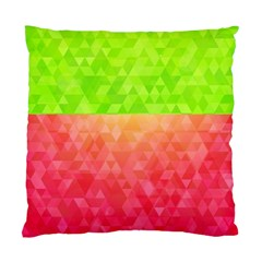 Colorful Abstract Triangles Pattern  Standard Cushion Case (two Sides) by TastefulDesigns