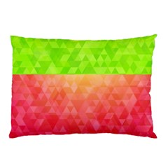 Colorful Abstract Triangles Pattern  Pillow Case by TastefulDesigns