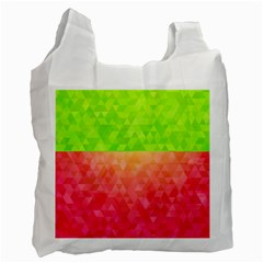 Colorful Abstract Triangles Pattern  Recycle Bag (one Side) by TastefulDesigns