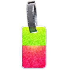 Colorful Abstract Triangles Pattern  Luggage Tags (one Side)  by TastefulDesigns