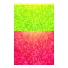 Colorful Abstract Triangles Pattern  Shower Curtain 48  X 72  (small)  by TastefulDesigns
