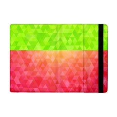 Colorful Abstract Triangles Pattern  Apple Ipad Mini Flip Case by TastefulDesigns