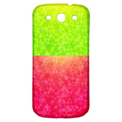 Colorful Abstract Triangles Pattern  Samsung Galaxy S3 S Iii Classic Hardshell Back Case