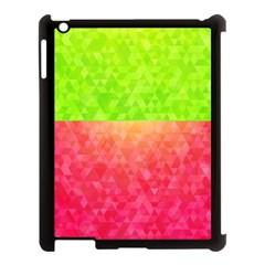 Colorful Abstract Triangles Pattern  Apple Ipad 3/4 Case (black) by TastefulDesigns