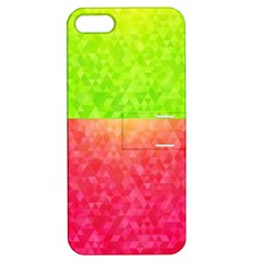 Colorful Abstract Triangles Pattern  Apple Iphone 5 Hardshell Case With Stand by TastefulDesigns