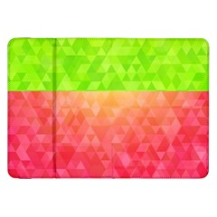 Colorful Abstract Triangles Pattern  Samsung Galaxy Tab 8 9  P7300 Flip Case by TastefulDesigns