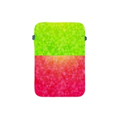 Colorful Abstract Triangles Pattern  Apple Ipad Mini Protective Soft Cases by TastefulDesigns