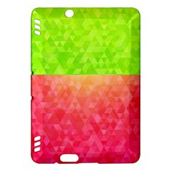 Colorful Abstract Triangles Pattern  Kindle Fire Hdx Hardshell Case by TastefulDesigns