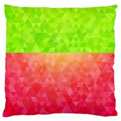 Colorful Abstract Triangles Pattern  Standard Flano Cushion Case (two Sides) by TastefulDesigns