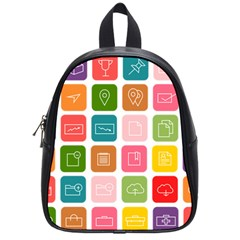 Icons Vector School Bags (small)  by Simbadda