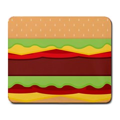 Vector Burger Time Background Large Mousepads