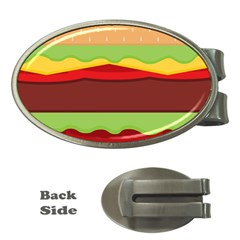 Vector Burger Time Background Money Clips (oval)  by Simbadda