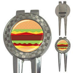 Vector Burger Time Background 3 In 1 Golf Divots by Simbadda