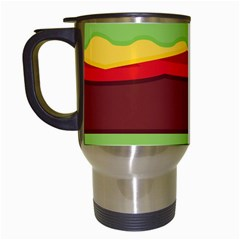 Vector Burger Time Background Travel Mugs (white) by Simbadda