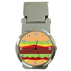 Vector Burger Time Background Money Clip Watches by Simbadda