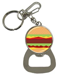 Vector Burger Time Background Button Necklaces by Simbadda