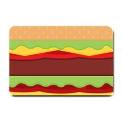 Vector Burger Time Background Small Doormat  by Simbadda