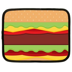 Vector Burger Time Background Netbook Case (large) by Simbadda